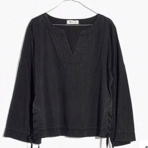 Madewell Black Chambray Denim Shirt